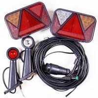 SET: Lămpi spate cu LED Fristom FT-270, lămpi gabarit LED Horpol LD 726 cu cablaj de 5,5 m cu 13-pin