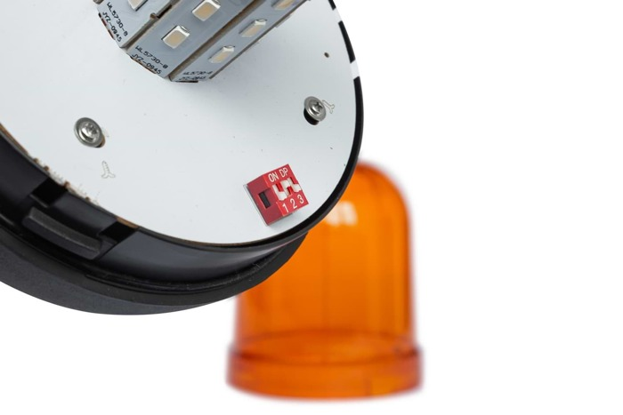 Avertizor optic ,,girofar'' cu LED SMD 140D cu 3 funcții