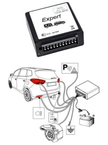 Cablaj electric universal SMP-4PE cu modul pentru remorci cu 13-PIN