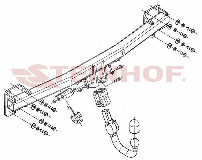 Cârlig remorcare Steinhof Audi Q7 2006-2015 cablaj 7PINI SMP-2E