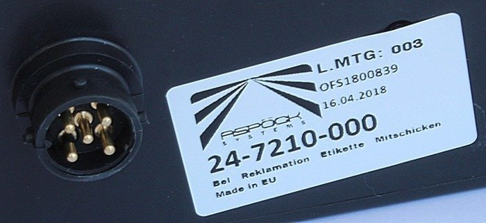 Lampă spate dreapta Multipoint II Aspöck pentru remorci auto