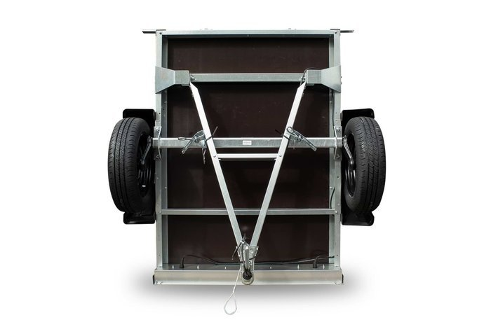 Remorca 750kg cu roată de sprijin, expensii obloane și schelet prelată cu prelată inclusă Garden Traler 150