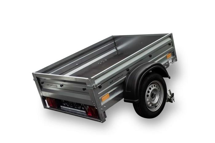 Remorcă auto 150 x 106, ușoară Garden Traler 150 Unitrailer, masa totală maximă admisă de: 750 kg