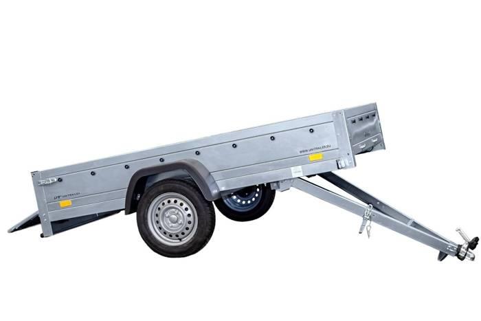 Remorcă auto basculabilă 230 x 125 Remorcă monoax GARDEN TRAILER 230 KIPP 750 KG MMA