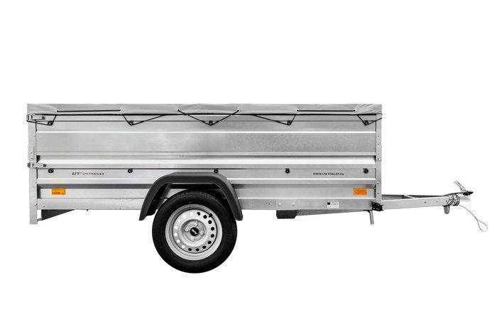 Remorca transport 236x125 Garden Trailer 236 cu obloanele duble și prelată plată