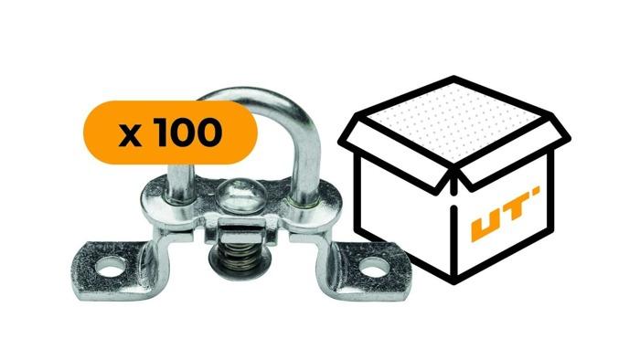 SET: 100 x Ochet obloane flexibil din oțel galvanizat H-19 mm (19.51)