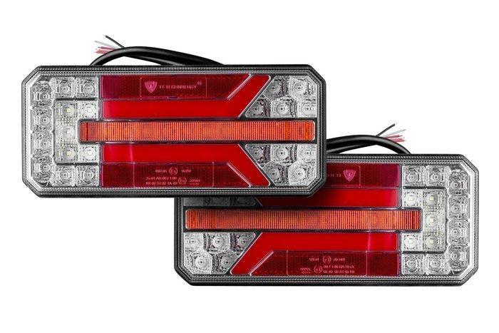 SET: Lampă spate cu LED cu semnalizare pe dinam pereche 12555