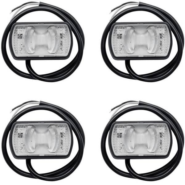 Set de 4x lămpi de gabarit LED Horpol LD 2227 alb