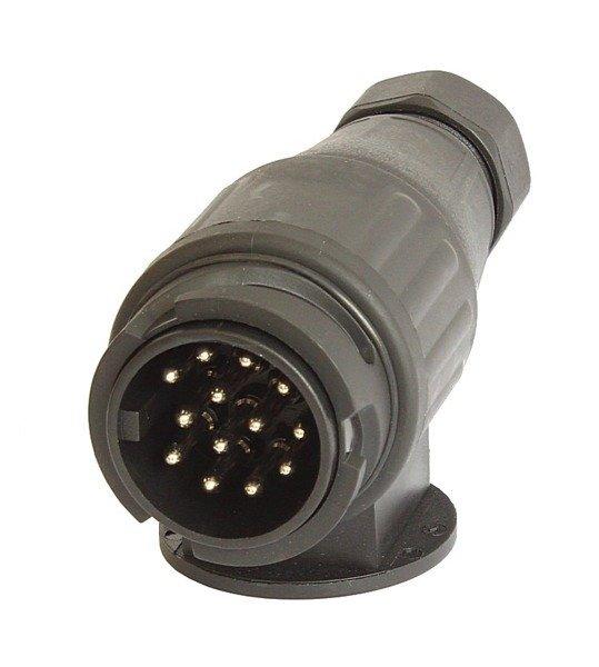 Ștecher 13 pini pentru remorci auto, acoperire plastic 12-24 V