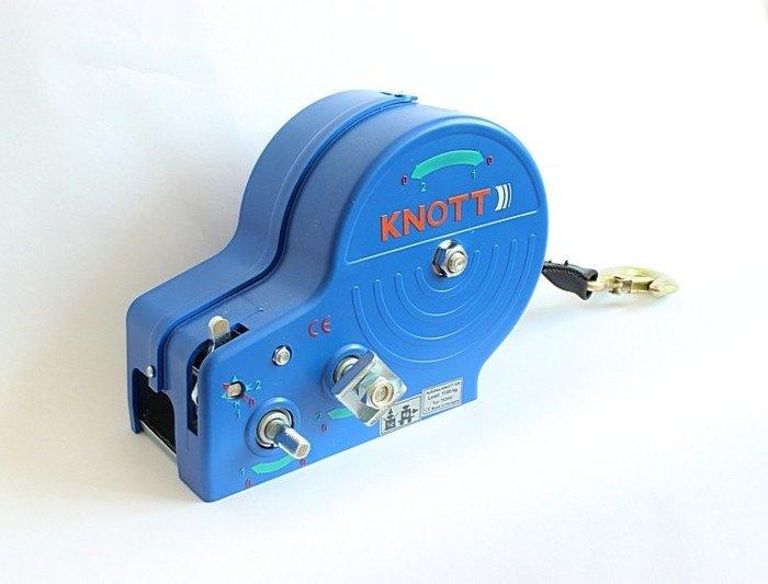 Troliu manual1150 kg cu bandă și carcasă de culoare albastră